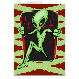 Alien Invades Your Home Stationery Note Card