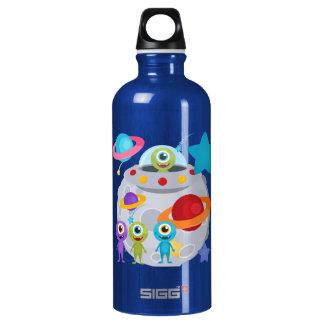 Alien Invasion Aluminum Water Bottle