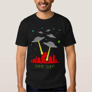 Alien invasion city ufo game over shirt