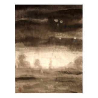 Alien Invasion Expressive Landscape Postcard