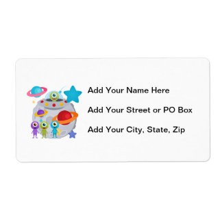 Alien Invasion Personalized Shipping Label
