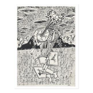 Alien Invasion, or, The Seeding, by Brian Benson Postcard