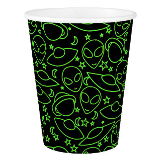 Alien Invasion Paper Cup