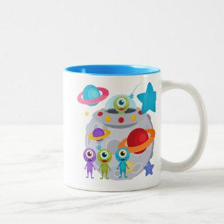 Alien Invasion Two-Tone Coffee Mug