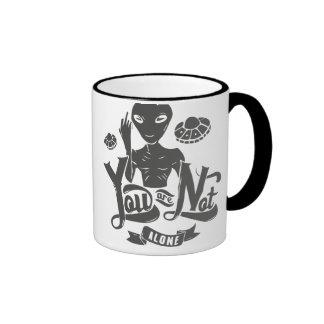 Alien Invasion You Are Not Alone Ringer Mug