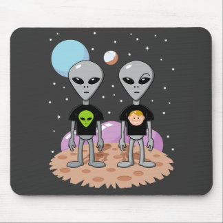 Alien Irony Mouse Pad