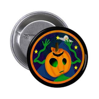 Alien Jack-O-Lantern Buttons
