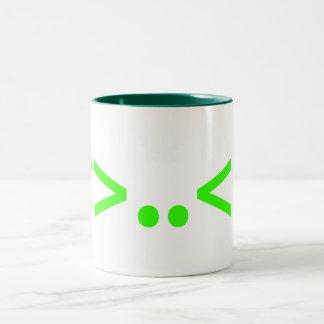ALIEN Japanese Emoticon Two-Tone Coffee Mug