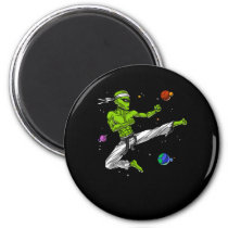 Alien Karate Martial Arts Magnet