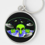 Alien Kilroy Keychain