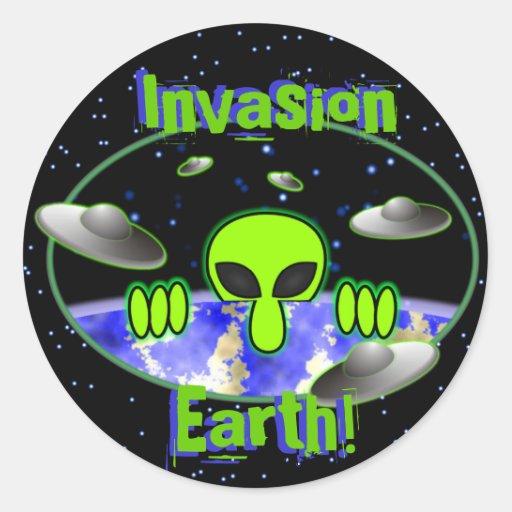 Alien Kilroy Space Sticker