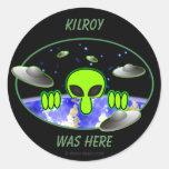 Alien Kilroy Sticker