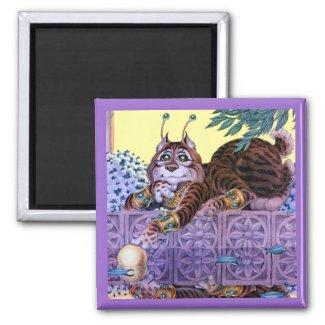 Alien Kitty Square Magnet magnet