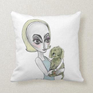 Alien Lady & Alien Dog Pillow