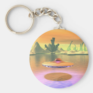 Alien Lake UFO Take Off Keychain