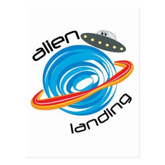 Alien Landing Postcard