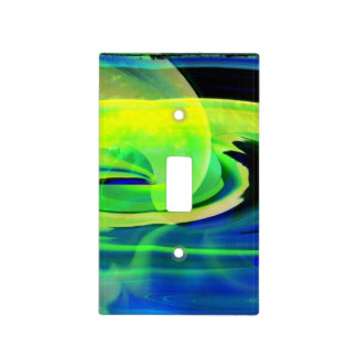 Alien Landscape Abstract Light Switch Cover