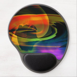 Alien Landscape Abstract Rainbow Gel Mouse Pad