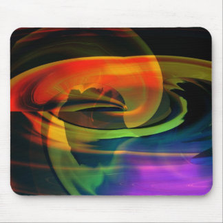 Alien Landscape Abstract Rainbow Mousepad