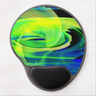 Alien Landscape Abstract Yellow Gel Mouse Pad