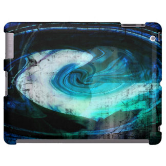 Alien Landscape Grunge iPad Case