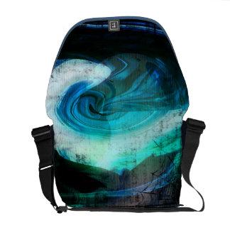 Alien Landscape Grunge Messenger Bag