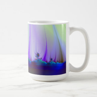 Alien Landscape in Blue Mug