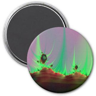 Alien Landscape in Green Magnet