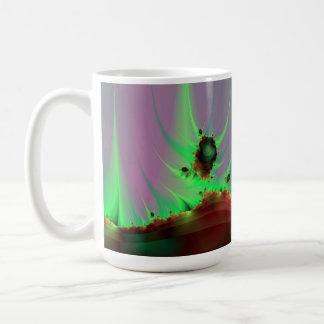 Alien Landscape in Green Mug