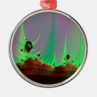 Alien Landscape in Green Ornament