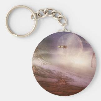 alien landscape keychain