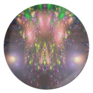 Alien Landscape Melamine Plate