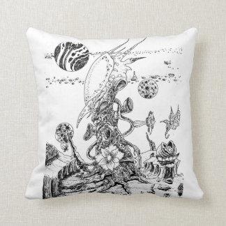 Alien Landscape Pillow