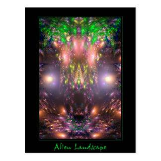 Alien Landscape Postcard