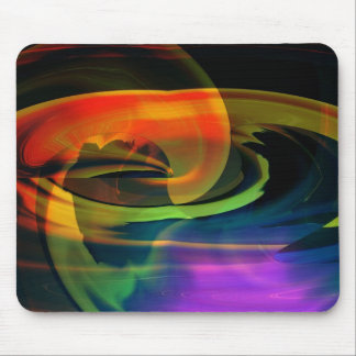 Alien Landscape Rainbow Abstract Mouse Pad