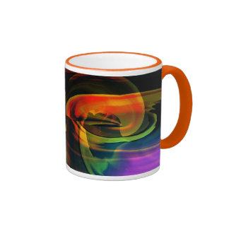 Alien Landscape Rainbow Abstract Ringer Mug