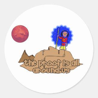 Alien Landscape Round Sticker