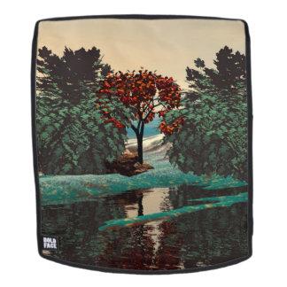 ALIEN LANDSCAPE,TREES,LAGOON IN HYPERION Sci_Fi Backpack
