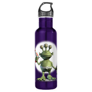 Alien Laser Gun Stainless Steel Water Bottle