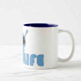 Alien Life - Coffee Mug! Two-Tone Coffee Mug