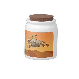 Alien Life on Mars Candy Jar