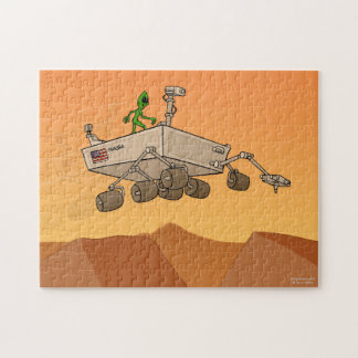 Alien Life on Mars Jigsaw Puzzle