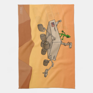 Alien Life on Mars Kitchen Towel
