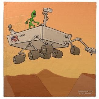 Alien Life on Mars Napkins