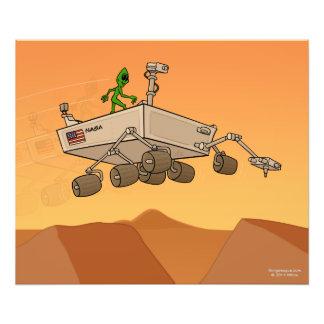 Alien Life on Mars Photo Print