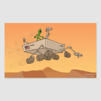 Alien Life on Mars Rectangular Sticker
