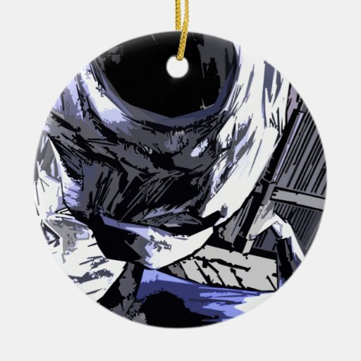 alien Life rob Style Double-Sided Ceramic Round Christmas Ornament