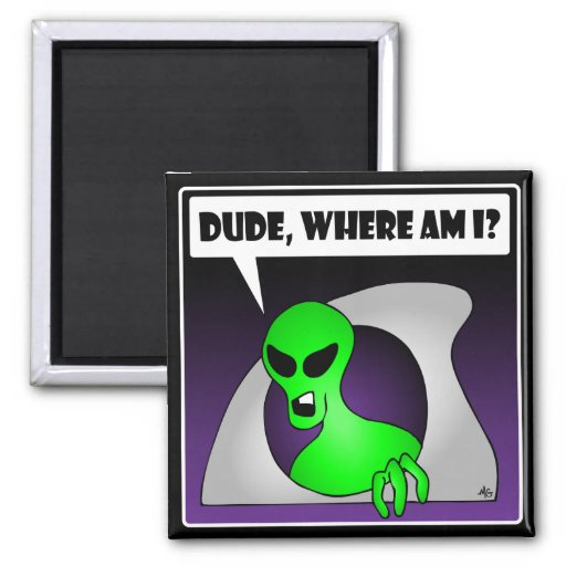 ALIEN LOST-1 2 INCH SQUARE MAGNET