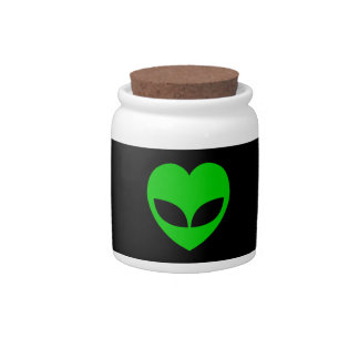 Alien Love Heart Candy Dishes