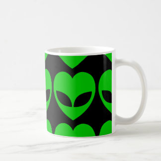 Alien Love Heart Coffee Mug